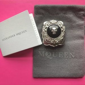 Alexander McQueen Currency Skull Brooch Pin